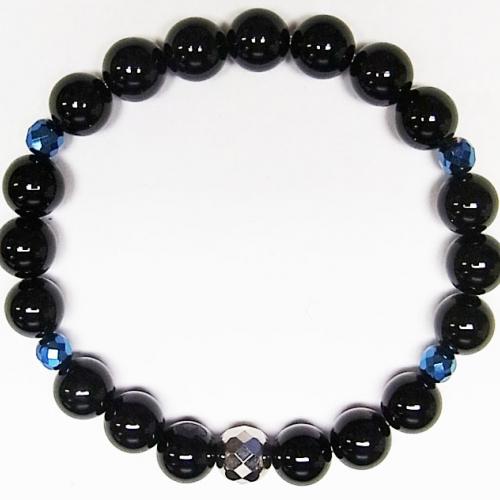 PHITEN ONYX TITANIUM BLUE BRACELET 16cm